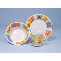 Набор посуды 3 предмета рисунок Азбука фото, купить в Липецке | Uliss Trade