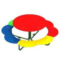 Столик со скамьями круглый фото, купить в Липецке | Uliss Trade