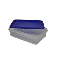 Контейнер для продуктов прямоуг. 1,3 л 22*14,5*6см с синей крышкой фото, купить в Липецке | Uliss Trade