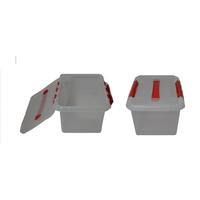 Контейнер для продуктов прямоуг. 8 л 30*23*16 см с ручкой с красным зажимом фото, купить в Липецке | Uliss Trade