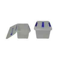 Контейнер для продуктов прямоуг. 8 л 30*23*16 см с ручкой с синим зажимом фото, купить в Липецке | Uliss Trade