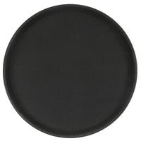 Поднос прорезиненный круглый 400х25 мм черный фото, купить в Липецке | Uliss Trade