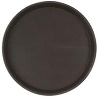 Поднос прорезиненный круглый 400х25 мм коричневый фото, купить в Липецке | Uliss Trade
