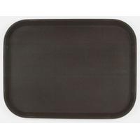 Поднос прорезиненный прямоугольный 410х300х25 мм коричневый фото, купить в Липецке | Uliss Trade
