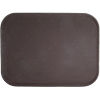 Поднос прорезиненный прямоугольный 500х380х25 мм коричневый фото, купить в Липецке | Uliss Trade