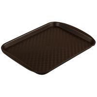 Поднос столовый из полипропилена 330х260 коричневый фото, купить в Липецке | Uliss Trade