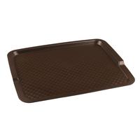 Поднос столовый из полипропилена 425х320 мм коричневый фото, купить в Липецке | Uliss Trade
