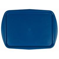 Поднос столовый из полипропилена 490х360 мм с ручками синий фото, купить в Липецке | Uliss Trade