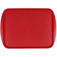 Поднос столовый из полистирола 450х350 мм красный фото, купить в Липецке | Uliss Trade