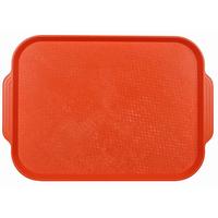 Поднос столовый из полистирола 450х355 мм оранжевый фото, купить в Липецке | Uliss Trade