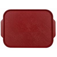 Поднос столовый из полистирола 450х355 мм темно-красный фото, купить в Липецке | Uliss Trade