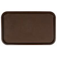 Поднос столовый из полистирола 530х330 мм темно-коричневый фото, купить в Липецке | Uliss Trade