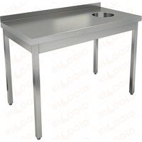 Стол производственный пристенный с бортом для сбора отходов HICOLD НДСО-14/7БП фото, купить в Липецке | Uliss Trade