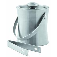 Емкость для льда металлическая с щипцами V, мл 1000 арт. 900010596 фото, купить в Липецке | Uliss Trade