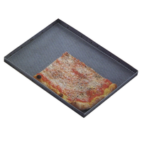 Противень для пиццы 60х40см h2см, перфорированный, нерж.сталь фото, купить в Липецке | Uliss Trade