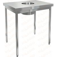 Стол производственный для сбора отходов HICOLD НДСО-9/7 фото, купить в Липецке | Uliss Trade