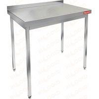 Стол производственный пристенный с бортом без полки HICOLD НСО-11/6Б фото, купить в Липецке | Uliss Trade