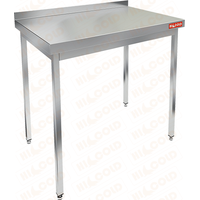 Стол производственный пристенный с бортом без полки HICOLD НСО-8/6Б фото, купить в Липецке | Uliss Trade