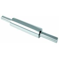 Скалка нерж. сталь с вращающейся ручкой d=7,5см l=25см фото, купить в Липецке | Uliss Trade