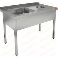 Ванна моечная с отверстием для сбора отходов HICOLD НДСО1М-15/7БЛ фото, купить в Липецке | Uliss Trade