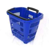 Корзина-тележка на 2-х колесах пластиковая PBT34 фото, купить в Липецке | Uliss Trade