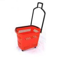 Корзина-тележка на 4-х колесах пластиковая PBT30 фото, купить в Липецке | Uliss Trade