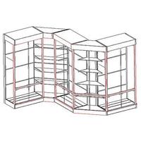 Стеллажи-витрины серии СК фото, купить в Липецке | Uliss Trade