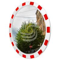 Сферическое зеркало дорожное со световозвращающей окантовкой фото, купить в Липецке | Uliss Trade