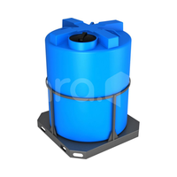 Пластиковая ёмкость в обрешётке 3000 л (1600x1600x2050 мм) фото, купить в Липецке | Uliss Trade