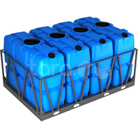Пластиковая ёмкость в обрешётке 8000 литров (кассета из 4 шт) фото, купить в Липецке | Uliss Trade