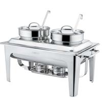 Мармит сервировочный суповой (два резервуара) V, л 4*2 фото, купить в Липецке | Uliss Trade
