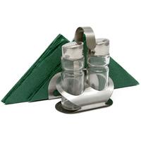 Набор для специй «Family» (соль, перец) + салфетница Luxstahl (нержавеющая сталь/стекло) фото, купить в Липецке | Uliss Trade