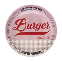 Тарелка для гамбургеров 26см, цвет розовый, Oxford фото, купить в Липецке   Uliss Trade