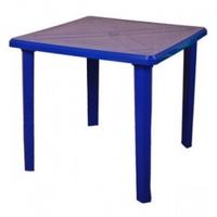 Стол пластиковый квадратный синий фото, купить в Липецке | Uliss Trade