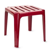 Табурет-столик пластиковый бордовый фото, купить в Липецке | Uliss Trade