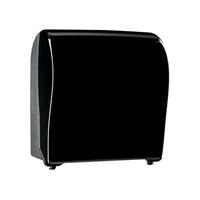 Механический диспенсер для рулонных полотенец MERIDA UNIQUE SOLID CUT PIANO BLACK LINE фото, купить в Липецке   Uliss Trade