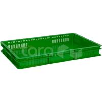 Пластиковый ящик 600x400x75 сплошное дно фото, купить в Липецке   Uliss Trade