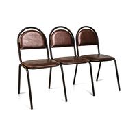 Секция стульев Стандарт трёхместная фото, купить в Липецке | Uliss Trade