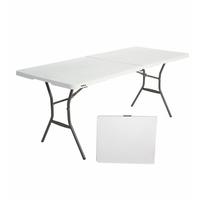 Прямоугольный стол-книжка пластиковый разборный, арт.СТР180 фото, купить в Липецке   Uliss Trade