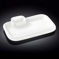 Блюдо прямоугольное l=360*215 мм. с соусником Wilmax фото, купить в Липецке   Uliss Trade
