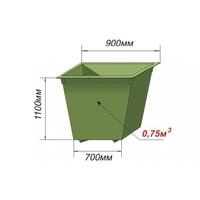 Контейнер металлический крашенный 0,75 куб.м фото, купить в Липецке | Uliss Trade