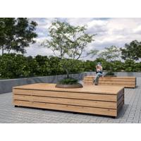 Скамья модульная прямоугольная фото, купить в Липецке   Uliss Trade