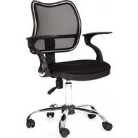 Кресло оператора CHAIRMAN 450-Хром чёрная сетка / чёрная ткань (TW-11) фото, купить в Липецке | Uliss Trade