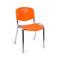 Стул офисный Изо хром пластик оранжевый фото, купить в Липецке | Uliss Trade