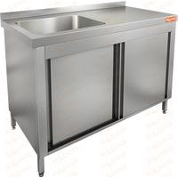 Стол нержавеющий закрытый купе с моечной ванной HICOLD НСЗК1М-10/6БЛ фото, купить в Липецке | Uliss Trade