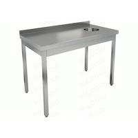 Стол производственный пристенный с бортом для сбора отходов HICOLD НДСО-15/7БЛ фото, купить в Липецке | Uliss Trade