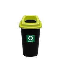 Бак для раздельного сбора мусора на 28л. зеленая крышка с отверстием фото, купить в Липецке | Uliss Trade