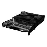Термосумка на 2 пиццы 450х450х100 мм фольгированная XXL черная с вентиляцией фото, купить в Липецке   Uliss Trade