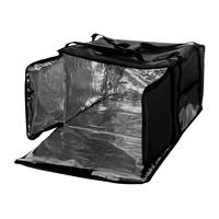 Термосумка на 5-6 пицц 450х450х300 мм фольгированная XXL черная с вентиляцией фото, купить в Липецке   Uliss Trade