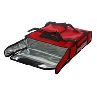 Термосумка на 2 пиццы 420х420х100 мм фольгированная большая красная с вентиляцией фото, купить в Липецке   Uliss Trade